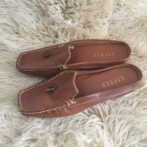 Vintage and New! Ralph Lauren mules.